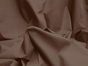 Broadcloth Fabric - Polyester-Cotton Blend - Dark Brown
