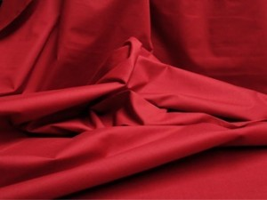 Broadcloth Fabric - Polyester-Cotton Blend - Dark Red