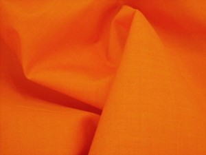 Broadcloth Fabric - Polyester-Cotton Blend - Orange