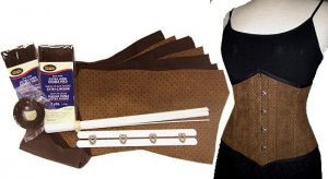 Rye & Ginger Kit - Brown Faux Suede with Black Diamonds