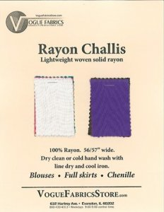 Color Card - Rayon Challis