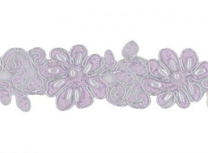 "Beaded Trim - Catherine Collection 1 1/4"" - Lavender"
