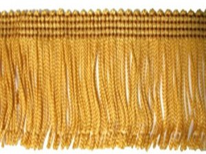 Rayon Chainette Fringe - Mustard Gold #3 - 15 inch