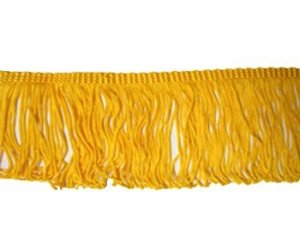 Rayon Chainette Fringe - Flag Gold #16, 2 inch