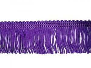 Rayon Chainette Fringe - Purple #33 - 2 inch