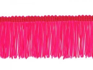 Rayon Chainette Fringe - Florescent Cerise - 4 inch