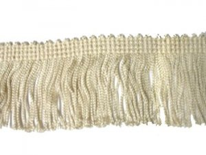 Rayon Chainette Fringe - Ivory #26 - 4 inch