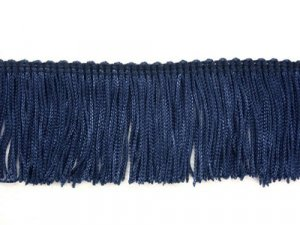 Rayon Chainette Fringe - Navy #21 - 4 inch