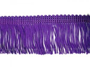 Rayon Chainette Fringe - Purple #33 - 4 inch