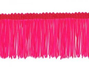 Rayon Chainette Fringe - Florescent Cerise - 6 inch