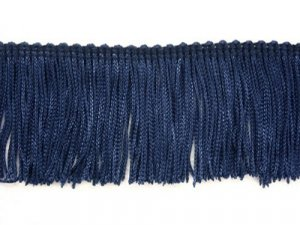 Rayon Chainette Fringe - Navy #21 - 6 inch