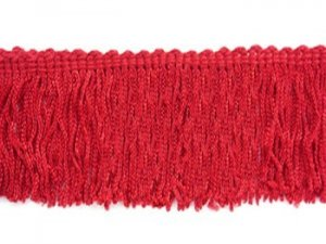Rayon Chainette Fringe - Red #12, 6 inch