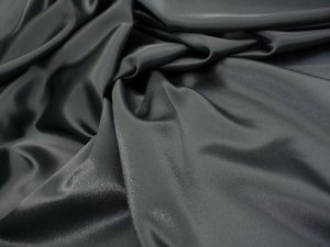 Crepe Back Satin - Charcoal
