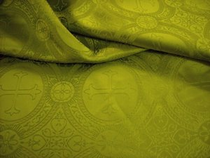 Church Brocade - Olive