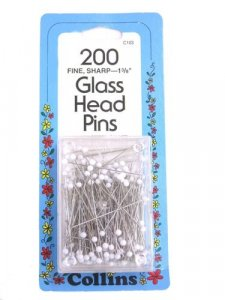 Collins- 200 Glass Head Pins