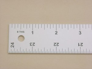 Lance Straight Edge Slip Resistant Ruler 24""