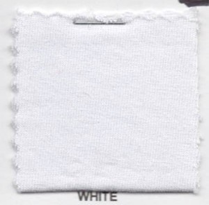 Cotton Jersey Knit Fabric - White