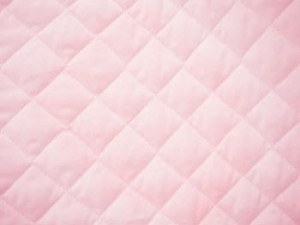 Double Faced Quilted Poly Cotton Broadcloth - Soft Pink