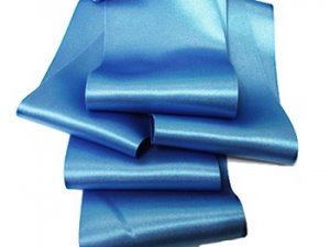 "3/"" Wide Beautiful Romantic Double Face Double Sided Sky Blue Satin Ribbon Trim"