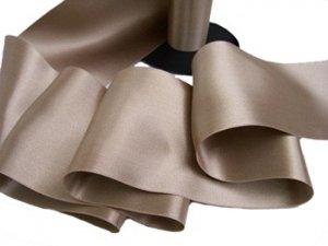 "Double Faced Satin Ribbon - 3.75"" Taupe #62"