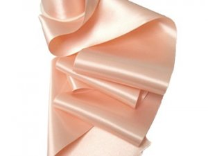 "Double Faced Satin Ribbon - 3.75"" Light Peach #84"