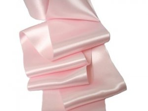 "Double Faced Satin Ribbon - 3.75"" Light Pink #75"