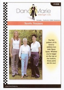 Dana Marie Sewing Pattern #1038 - Terrific Trousers