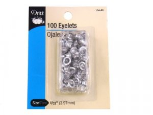Dritz- Eyelets, 100 Count, Nickel