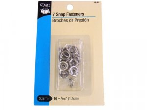 Dritz- Snap Fasteners, 7 Count 16-65