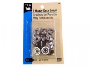 Dritz- Heavy Duty Snap Fasteners, 7 Count Brass