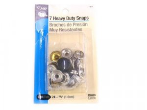 Dritz- Heavy Duty Snap Fasteners, 7 Count Black