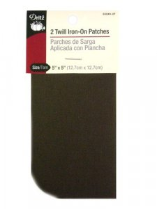 Dritz- Twill Iron-On Patches, 2 Count Brown