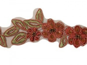 "Beaded Trim - Elizabeth Collection 1 1/2"" - Terracotta"