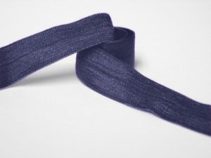 "Wholesale Fold Over Elastic - Navy #19  -   5/8"" wide   5 yard roll"