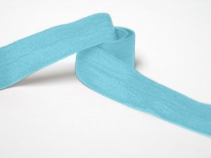 "Wholesale Fold Over Elastic - Turquoise #9  -   5/8"" wide   5 yard roll"