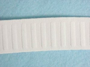 Flat Woven Non Roll Elastic - White 1.25""