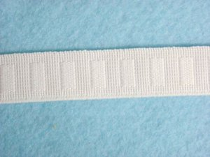 Flat Woven Non Roll Elastic - White 3/4""