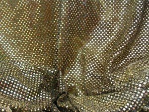 Wholesale Faux Sequin Knit Fabric - 234 Black Gold  25 yards