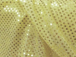 Faux Sequin Knit Fabric - 228 Light Gold