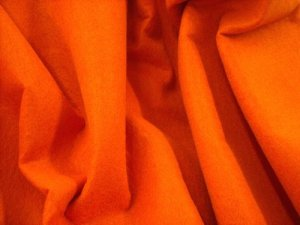 Craft Felt Fabric - Tangerine ***Temporarily out of stock***