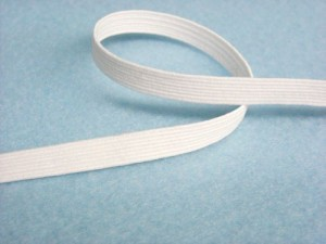 "Wholesale Flat Braided Elastic 1040 - White 1/4""  144yds"