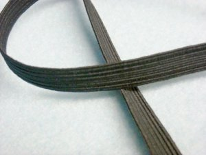 Flat Braided Elastic 1040 - Black 3/8""