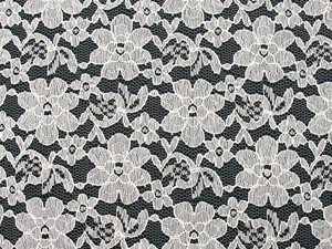 Wholesale Floral Lace - Ivory,  25 yards