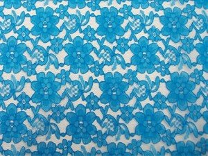 Wholesale Floral Lace - Turquoise,  25 yards