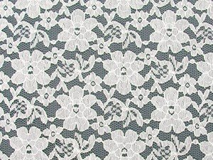 Wholesale Floral Lace - White,  25yards