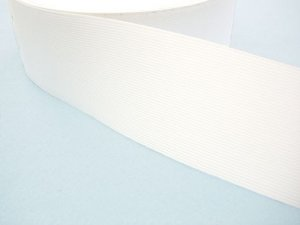 "Wholesale Flat Knitted Corset Elastic 217 - White 3"" - 50 yards ***Temporarily out of Stock***"
