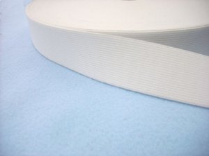 "Wholesale Flat Knitted Corset  Elastic #217 - White - 1.5"" x 50yds"