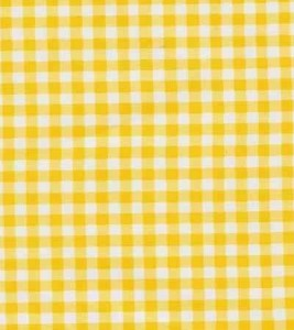 Oilcloth   Gingham Yellow