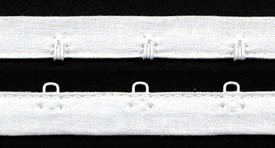 Hook & Eye Tape #1401X - White-White Enamel