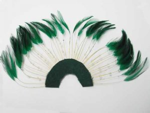Beaded Half Hackle Plate - Hunter Green